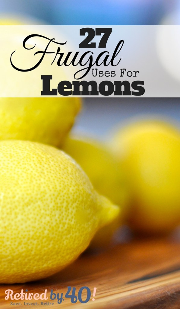 I've gathered 27 uses for lemon to get you started reducing the cost of chemicals or eliminating them completely from your home!