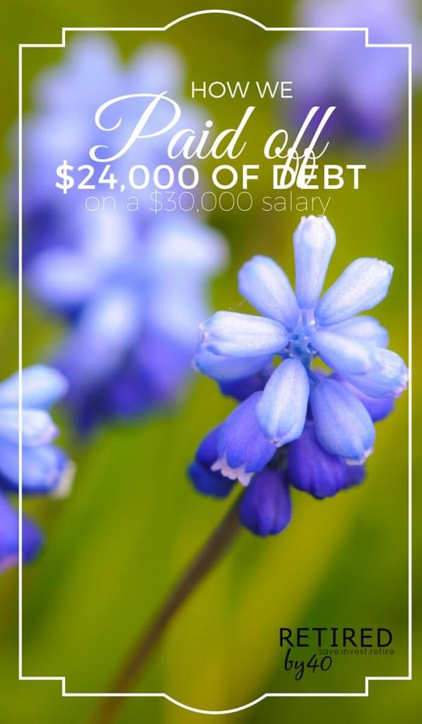 Yep, you read that right! We put $24,000 of our $54,000 take home salary toward paying off debt in 2015