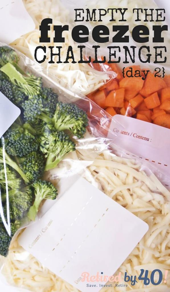 """Using my mornings to come up with an empty the freezer meal plan for the day will no only make the day go smoother, it will allow me to think through the day and put it on """"autopilot"""" so I don't have to think about meals the rest of the day."""