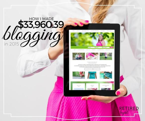 Anyone can make money blogging. In 2015, I made more than $33,000 from blogging part-time. Here's how I did it.