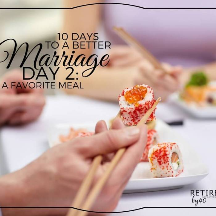 10 Days To A Better Marriage: A Favorite Meal