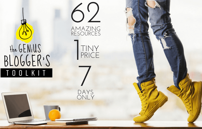 62 Blogging Resources, 17 Bonuses, 98% Off.  The Genius Blogger's Bundle