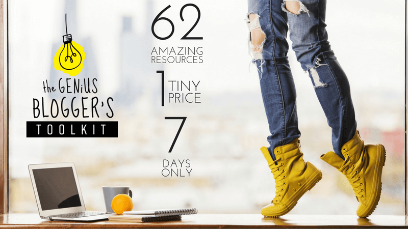 62 Blogging Resources, 17 Bonuses, 98% Off.  The Genius Blogger's Bundle