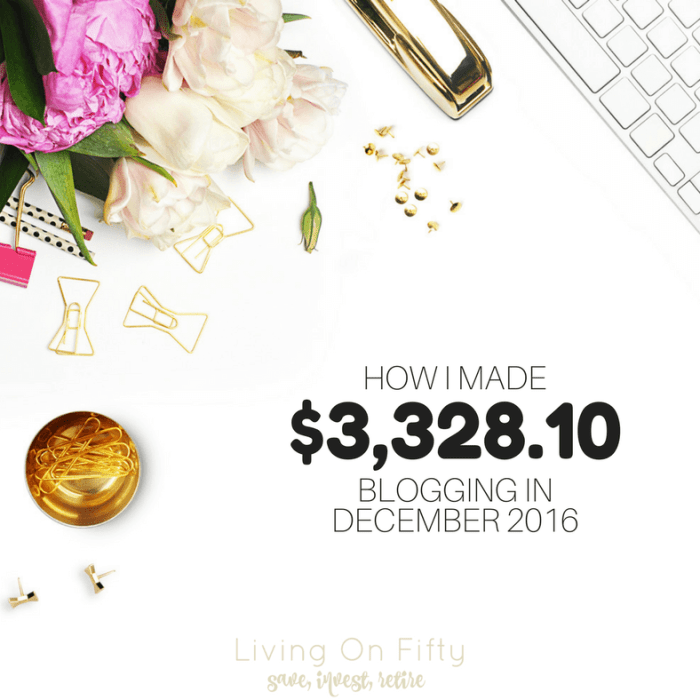 How I Made $3,328.10 Blogging in December 2016