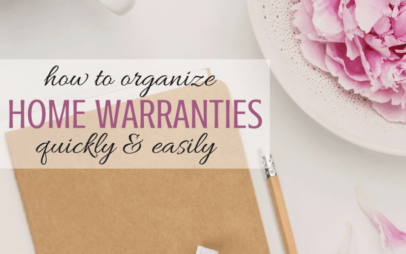 How To Organize All Your Warranties Quickly and Easily