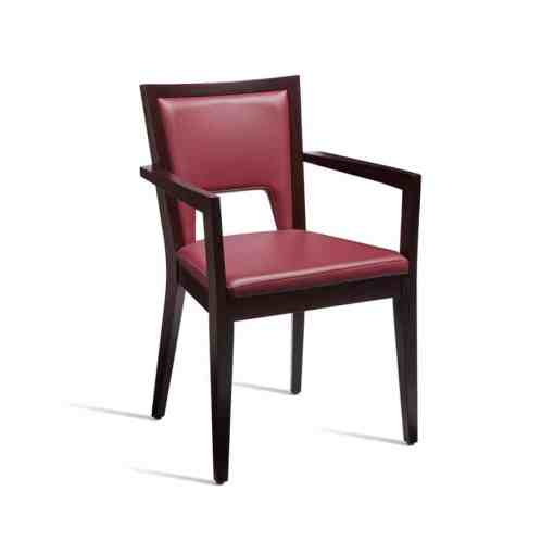 Gem waterproof dining arm chair in Red Faux