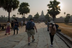 Over the causeway to the temple
