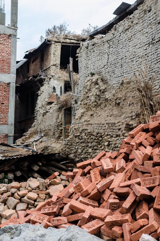 More brick piles