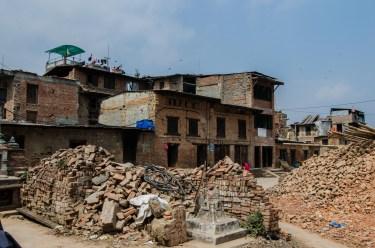Homeless rubble