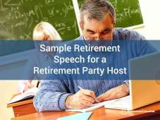 Sample Retirement Speech for a Retirement Party Host