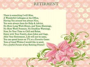 Retirement poems 6