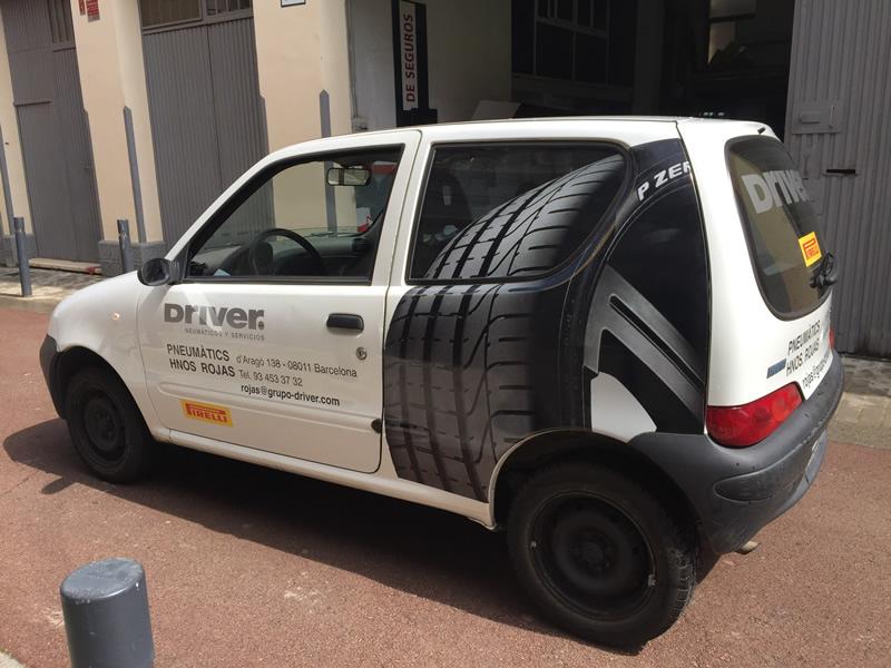 vinilo en vehiculo