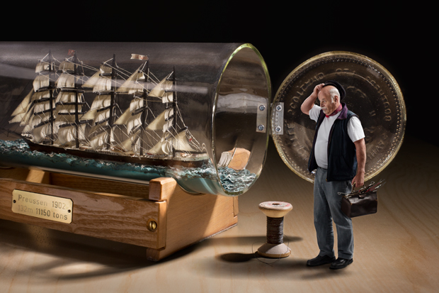 """How To Build A Ship In A Bottle"""", J. Flury, 2013"""