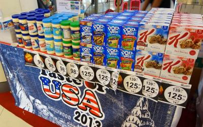 Taste of USA promotion at Bangkok markets–what do you think?