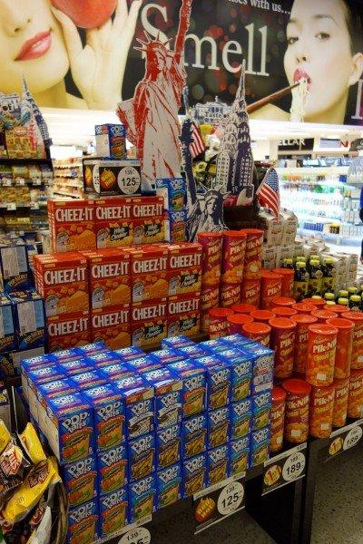 cheez its, pop-tarts, taste of USA bangkok