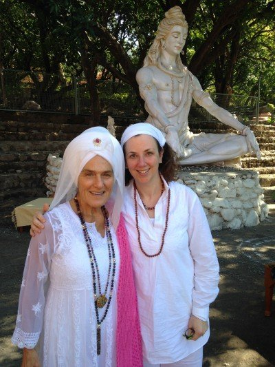 Mary Green & Gurmukh Kaur Khalsa in Rishikesh, India, early 2014.