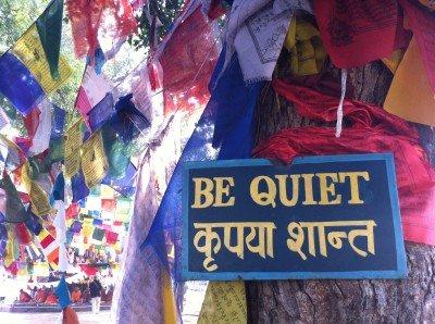 Signage at Lumbini