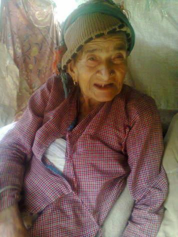 Bishnu's grandmother, safe and sound (picture courtesy of Bishnu)