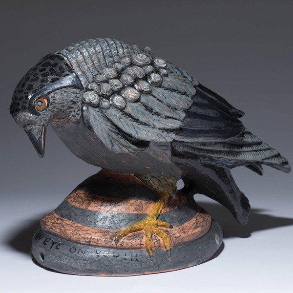 Claudia Reese crow sculpture