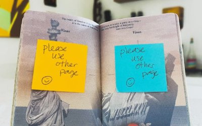 How to Organize Your Passport Stamps with Post-it Notes