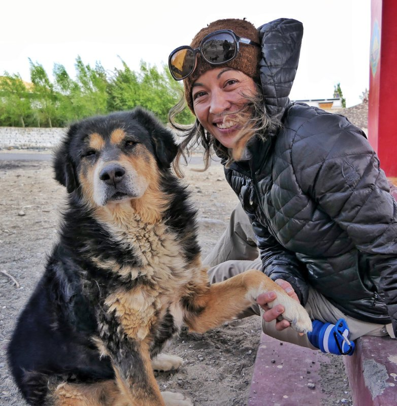 Trish and Singay in Ladakh