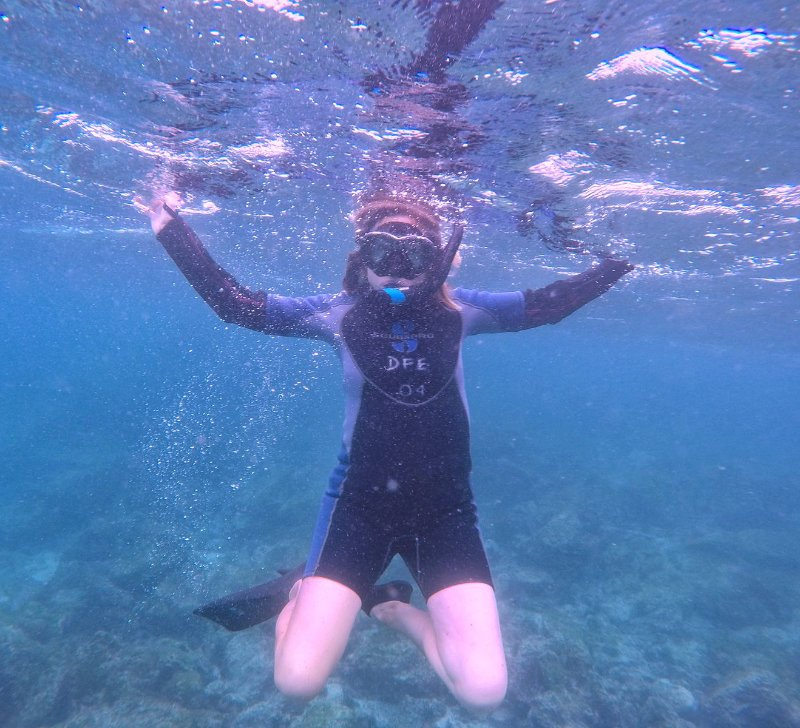 monica snorkeling