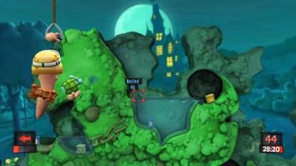 Les effets 3D dans Worms Revolution Collection sur Xbox 360