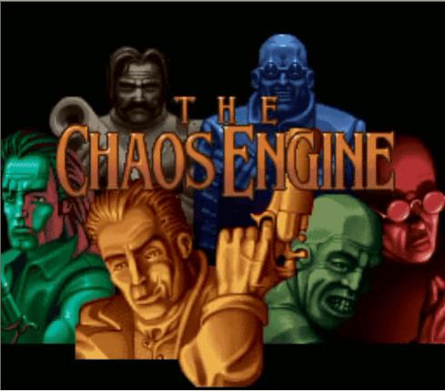 Ecran d'accueil du jeu Chaos Engine sur Amiga