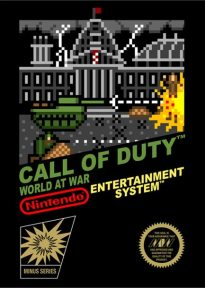 Jaquette de Call of Duty World at War style 8 bits sur Nintendo NES