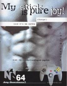 Publicité sexy torse homme pour nintendo 64
