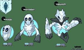 mort vivant roi de la nuit marcheur blanc white walker game of thrones en version pokémon