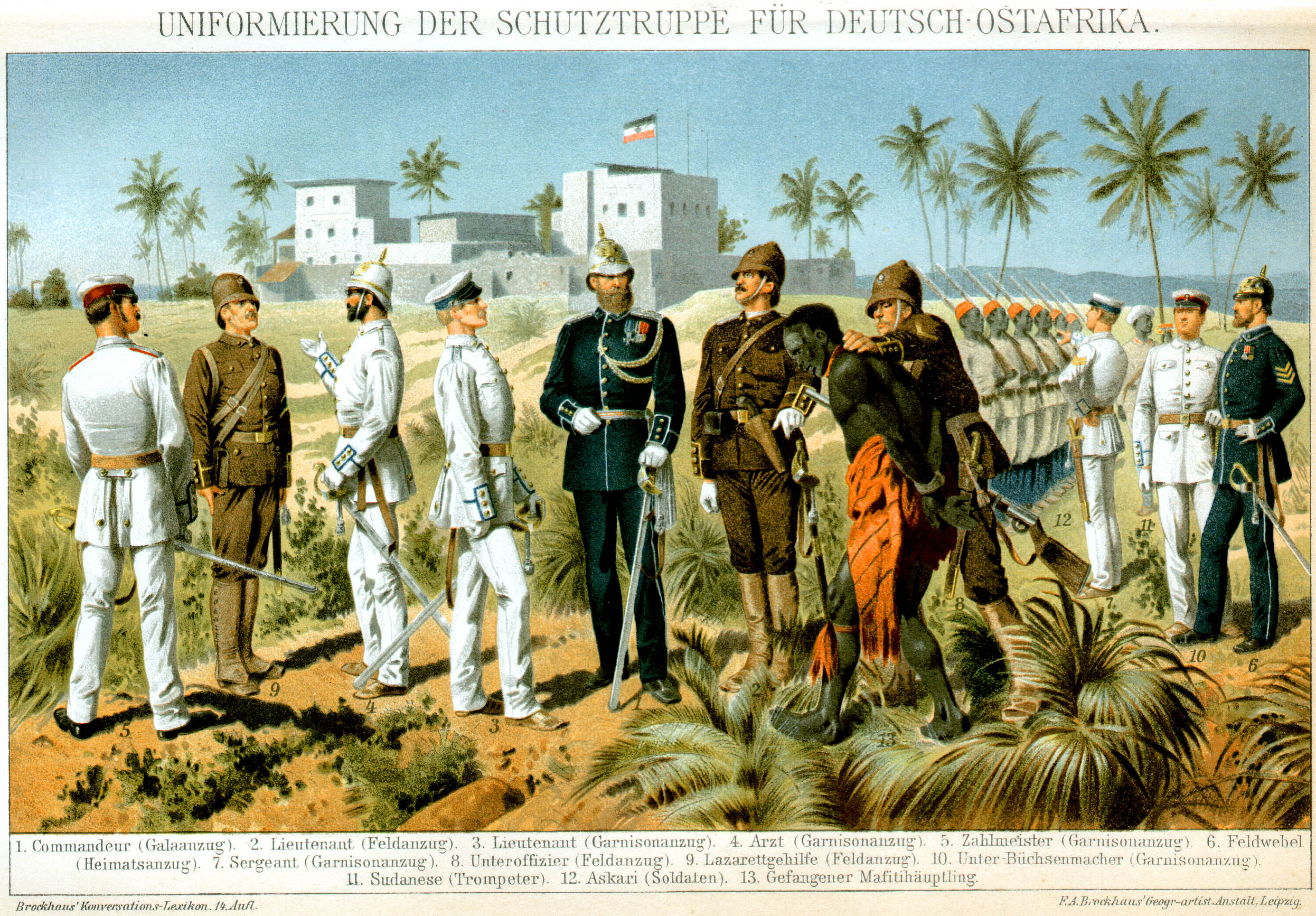 German East Africa (Deutsch-Ostafrika) - the future of Tanzania, Burundi, Rwanda, as well as part of modern Mozambique, from 1885 to 1919 years, was the most populous colony of the Second Reich.