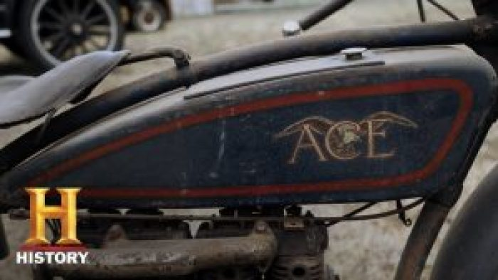 A rare and old Ace motorcycle from Ace Motor Corporation