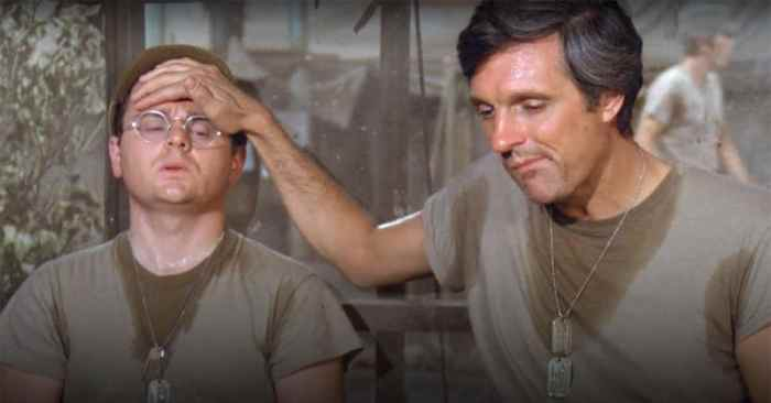radar hawkeye M*A*S*H sweating hot weather