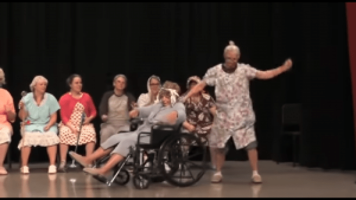 "One of these truly elderly high school ""seniors"" pulled off impressive moves"