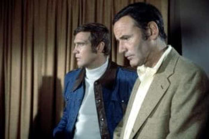 Lee Majors and Richard Anderson in The SIx Million Dollar Man