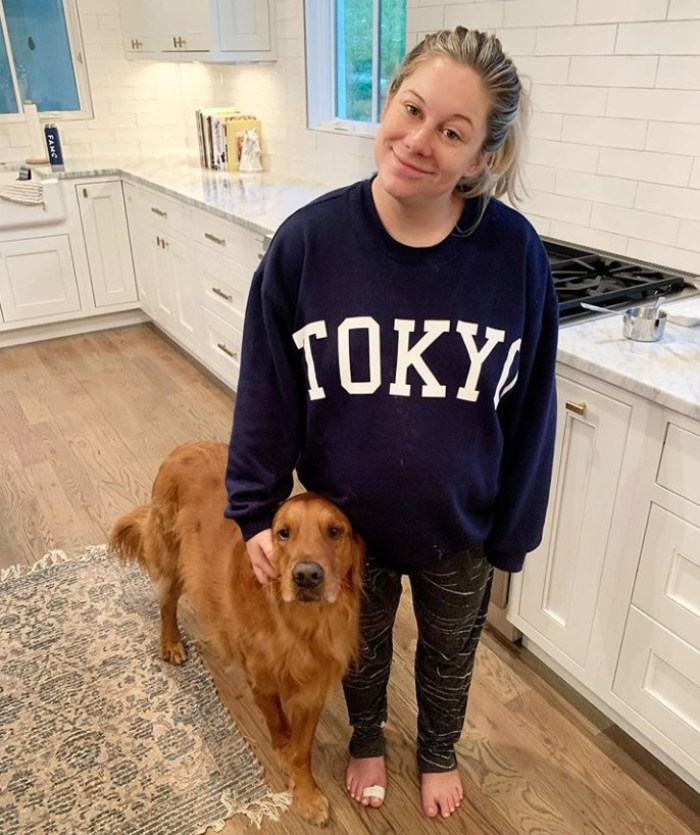 shawn johnson and her dog