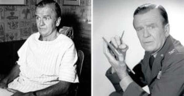 Hayden Rorke before and during his time with the cast of I Dream of Jeannie