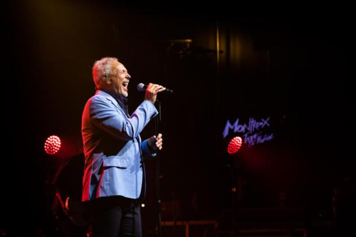tom jones performing at the montreux jazz festival