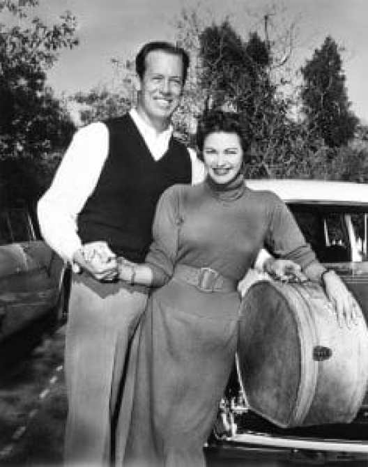 Yvonne, right, with her husband, stuntman Bob Morgan, shortly after their marriage