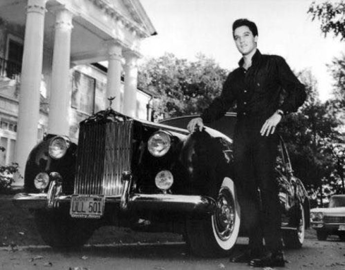 Elvis and one of his cars