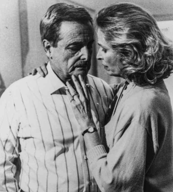 ST. ELSEWHERE, from left: William Daniels, Bonnie Bartlett,