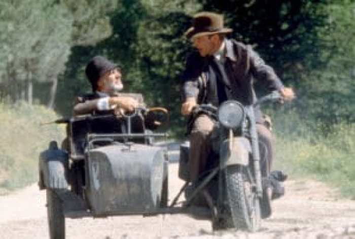 Sean Connery and Harrison Ford in Indiana Jones