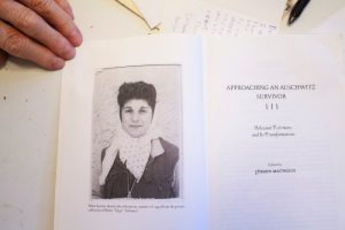 Wisnia's copy of the book featuring the woman he loved and knew as Zippi