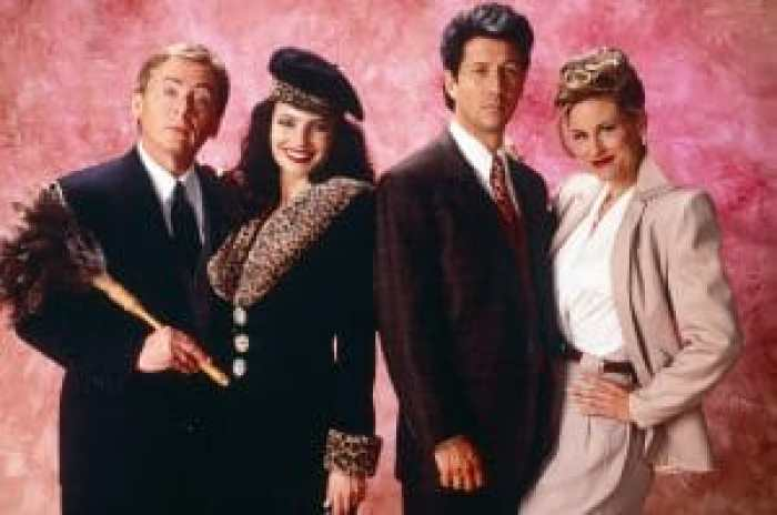 Daniel Davis, Fran Drescher, Charles Shaughnessy, Lauren Lane on The Nanny