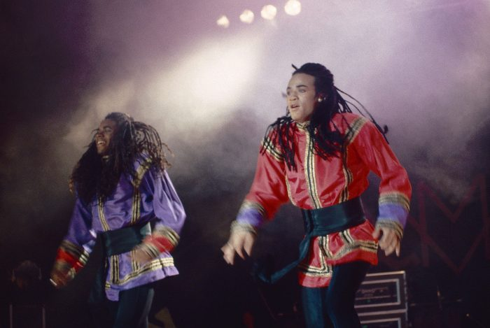 milli vanilli performing on stage