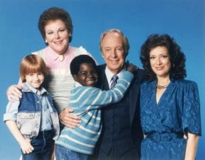 Danny Cooksey, Mary Jo Catlett, Gary Coleman, Conrad Bain, Dixie Carter in Diff'rent Strokes