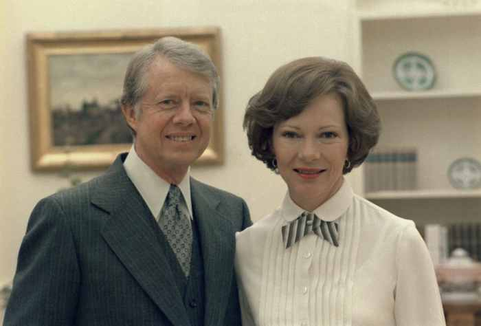 Rosalynn Carter and Jimmy Carter in the White House. Ca. 1977-1980