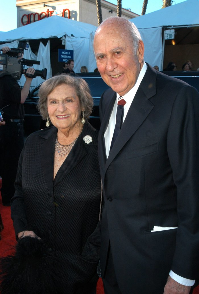 Carl Reiner and wife Estelle before she passed