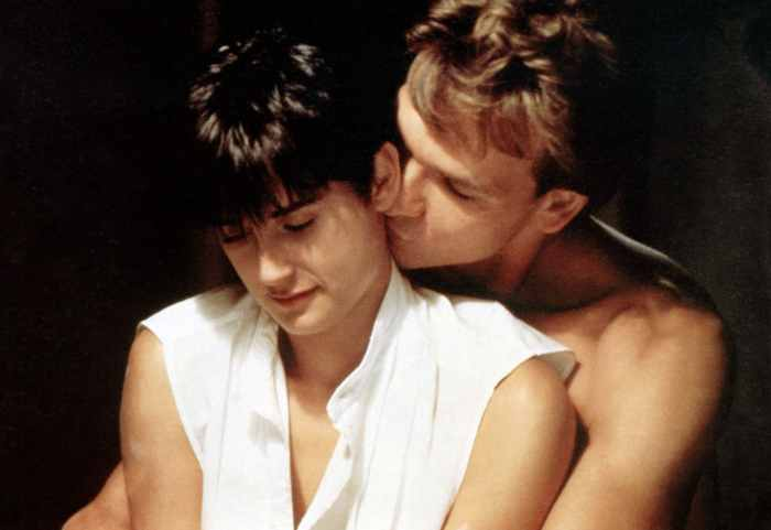 GHOST, from left: Demi Moore, Patrick Swayze, 1990